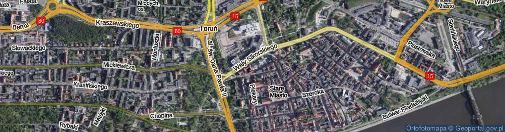 Zdjęcie satelitarne Horzycy Wilama ul.