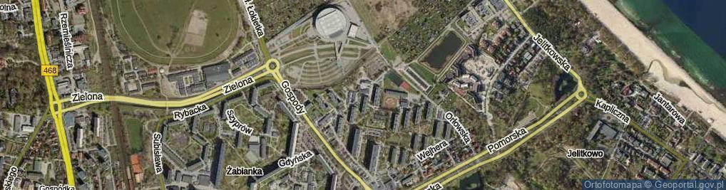 Zdjęcie satelitarne Husytów ul.
