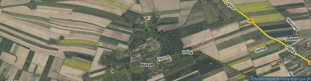 Zdjęcie satelitarne Hurcze ul.