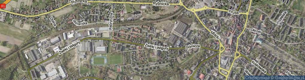 Zdjęcie satelitarne Hubera Maksymiliana, prof. ul.