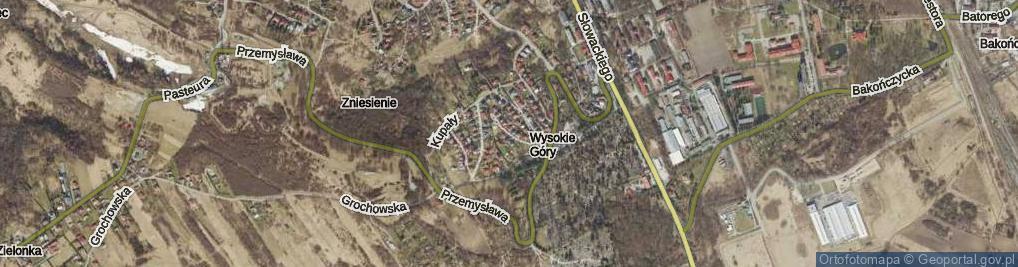 Zdjęcie satelitarne Hubala Henryka, mjr. ul.
