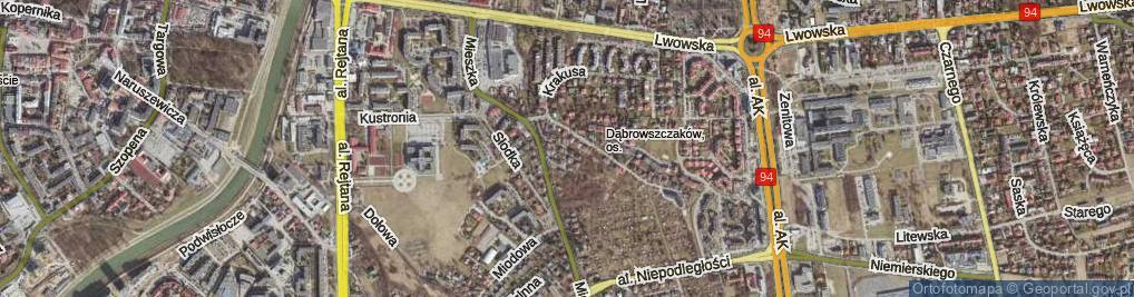 Zdjęcie satelitarne Hutników ul.
