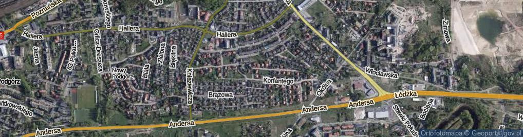 Zdjęcie satelitarne Hulewicza Wacława ul.