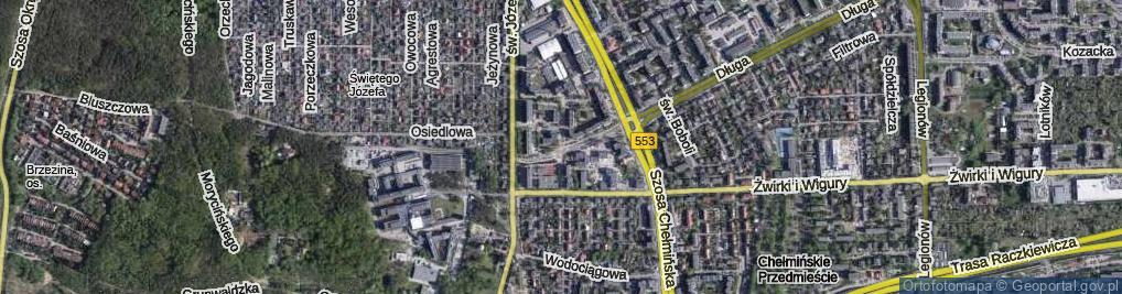 Zdjęcie satelitarne Hurynowicz Janiny ul.