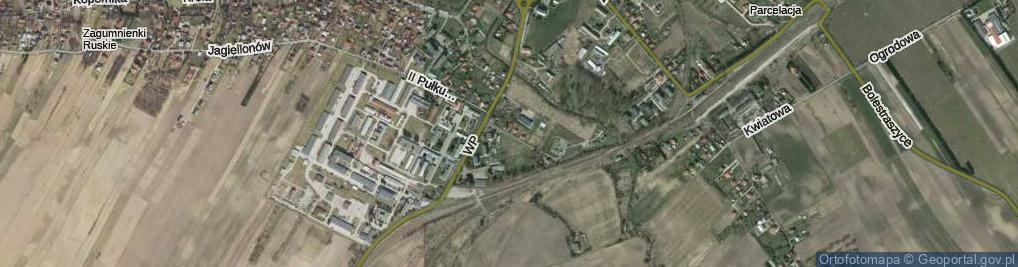 Zdjęcie satelitarne I Dywizji Pancernej ul.