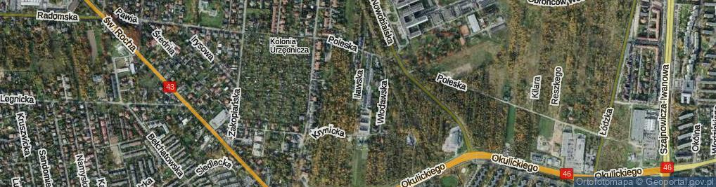 Zdjęcie satelitarne Iławska ul.