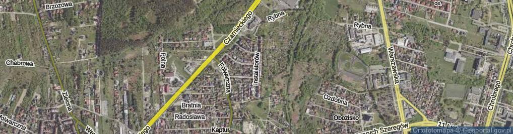 Zdjęcie satelitarne Instalatorów ul.