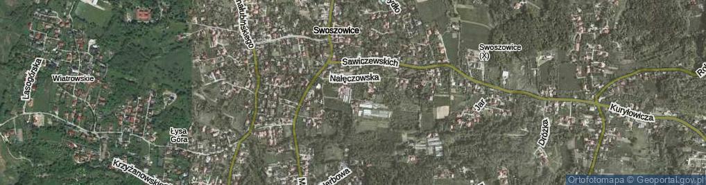 Zdjęcie satelitarne Iwonicka ul.