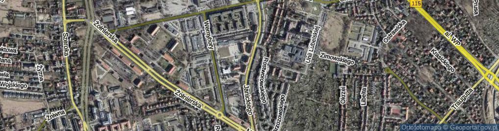 Zdjęcie satelitarne Janickiego Klemensa ul.