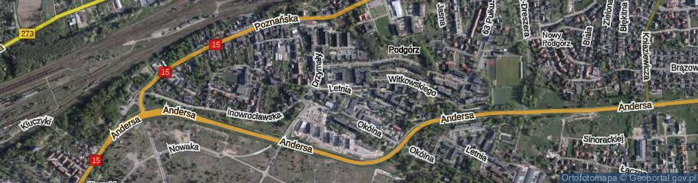 Zdjęcie satelitarne Jabłońskiego Aleksandra ul.