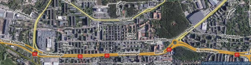 Zdjęcie satelitarne Jaroczyńskiego Mariana ul.