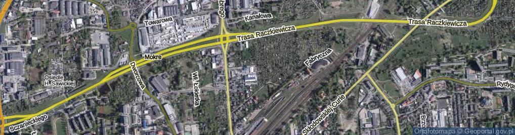 Zdjęcie satelitarne Jaworskich Stanisławy i Damazego ul.