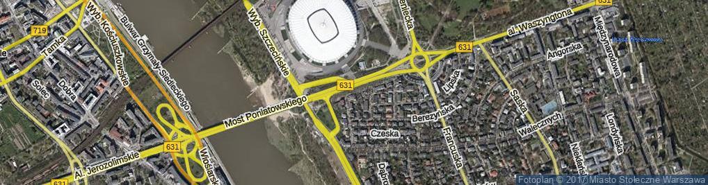 Zdjęcie satelitarne Jakubowska ul.