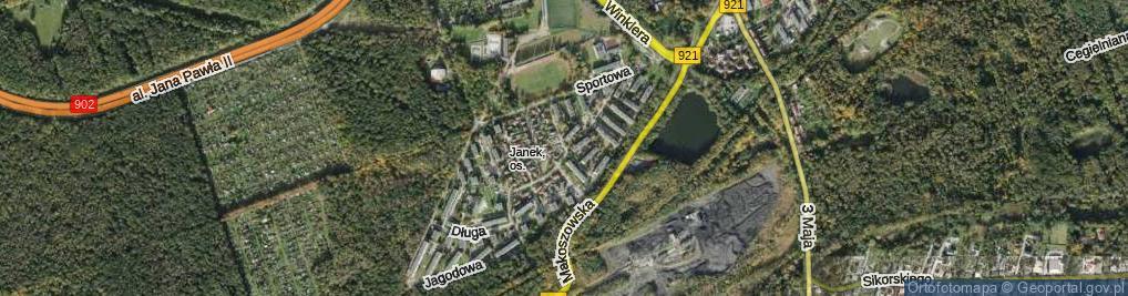Zdjęcie satelitarne Jarzębia ul.