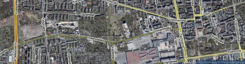 Zdjęcie satelitarne Jeneralska ul.