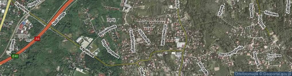 Zdjęcie satelitarne Jeździecka ul.