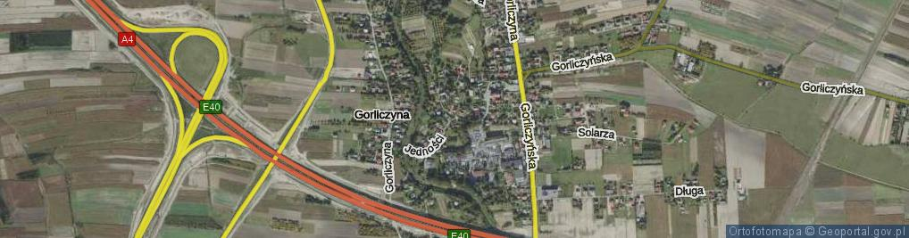 Zdjęcie satelitarne Jedności ul.