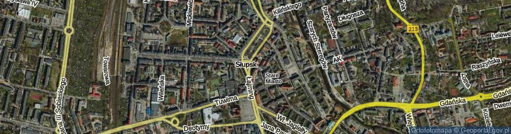 Zdjęcie satelitarne Jedności Narodowej ul.