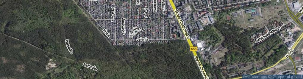 Zdjęcie satelitarne Jelenia ul.