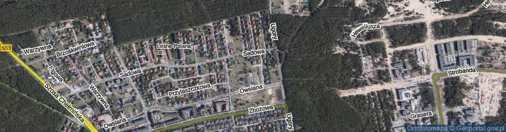 Zdjęcie satelitarne Jemiołowa ul.
