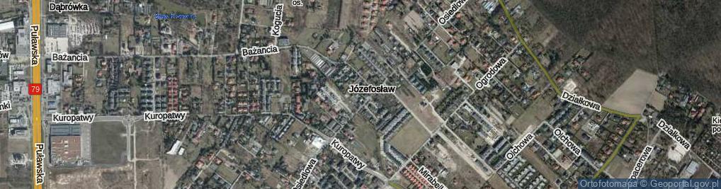 Zdjęcie satelitarne Józefosław ul.