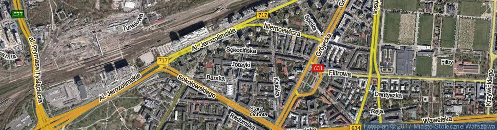 Zdjęcie satelitarne Joteyki Tadeusza ul.