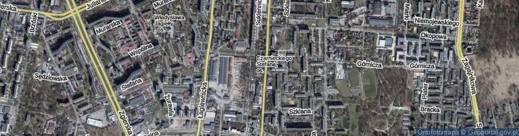 Zdjęcie satelitarne Kaletnicza ul.
