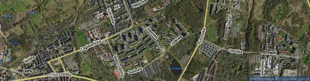 Zdjęcie satelitarne Karpacka ul.