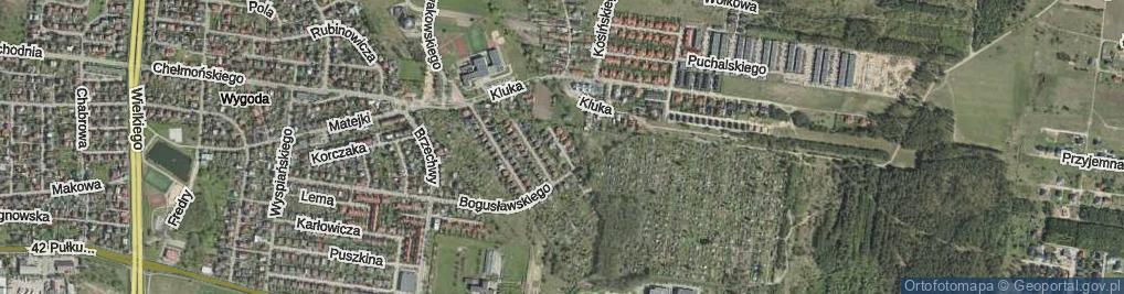 Zdjęcie satelitarne Kantora Tadeusza ul.
