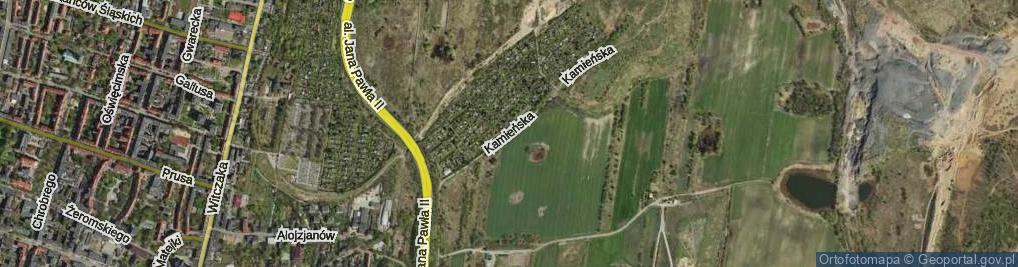 Zdjęcie satelitarne Kamieńska ul.