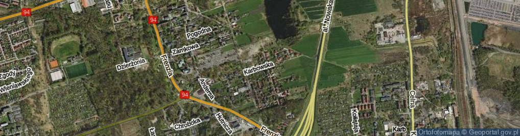 Zdjęcie satelitarne Karbowska ul.