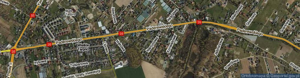 Zdjęcie satelitarne Kaliowa ul.