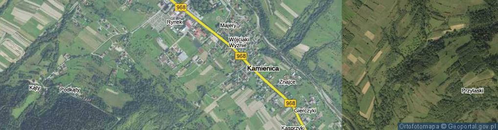 Zdjęcie satelitarne Kamienica ul.