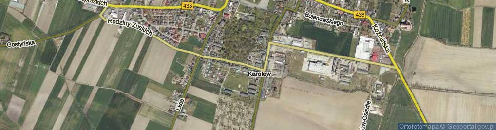 Zdjęcie satelitarne Karolew ul.