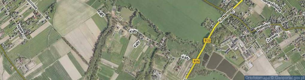 Zdjęcie satelitarne Kąty ul.