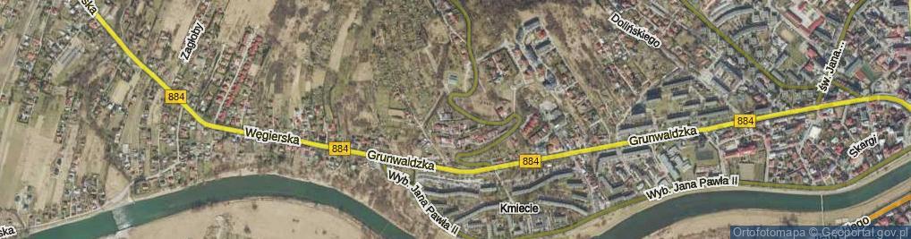 Zdjęcie satelitarne Kadyi Henryka ul.