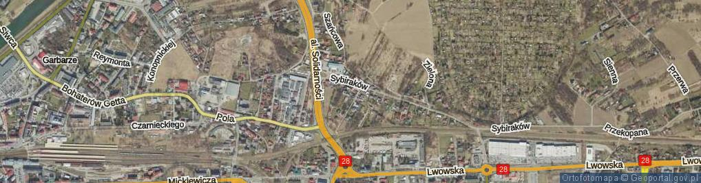 Zdjęcie satelitarne Kapuścińskiego Józefa ul.