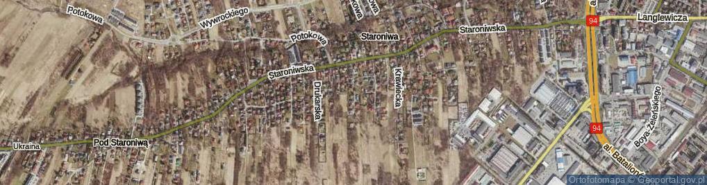 Zdjęcie satelitarne Kamieniarska ul.