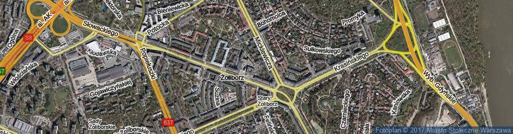 Zdjęcie satelitarne Kątowa ul.