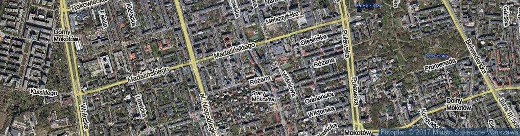 Zdjęcie satelitarne Kazimierzowska ul.