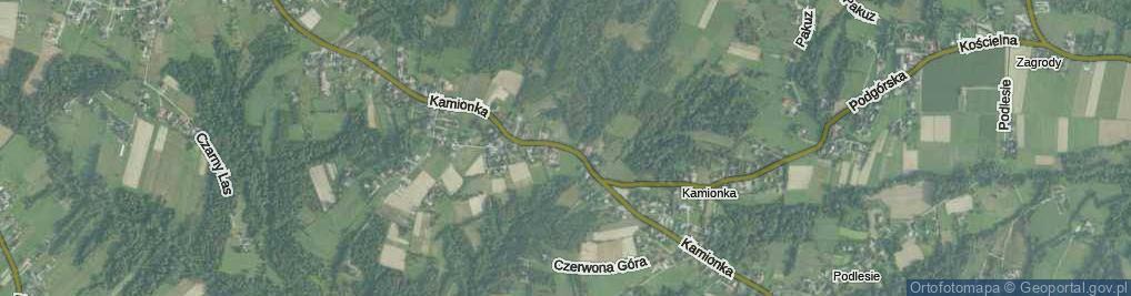Zdjęcie satelitarne Kamionka ul.