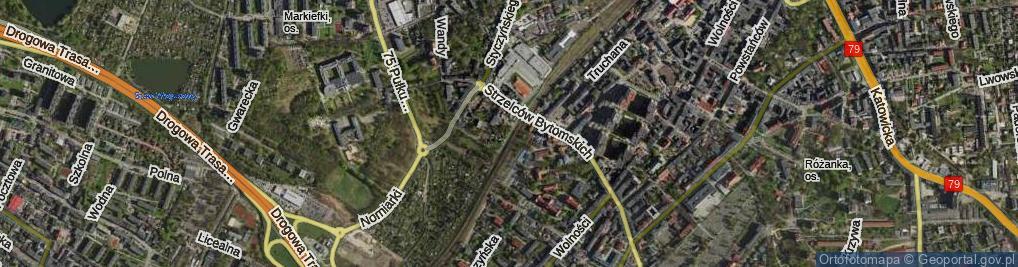 Zdjęcie satelitarne Kędzierzyńska ul.