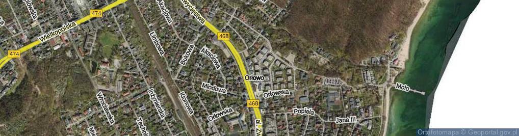 Zdjęcie satelitarne Kiedronia Józefa ul.