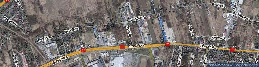 Zdjęcie satelitarne Kłodzka ul.