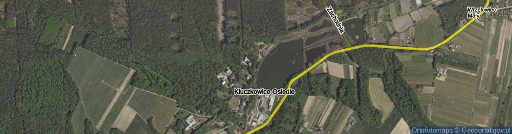Zdjęcie satelitarne Kluczkowice-Osiedle ul.