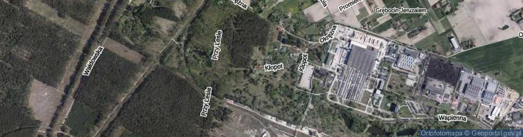 Zdjęcie satelitarne Kłopot ul.