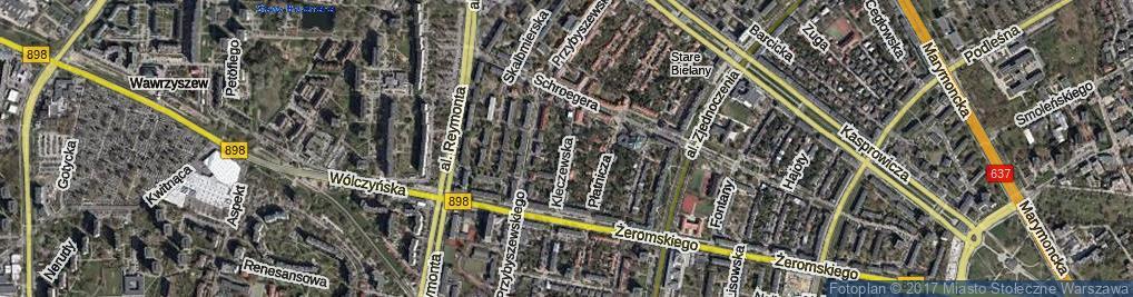 Zdjęcie satelitarne Kleczewska ul.