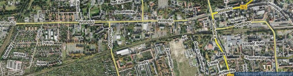 Zdjęcie satelitarne Klosego Floriana ul.