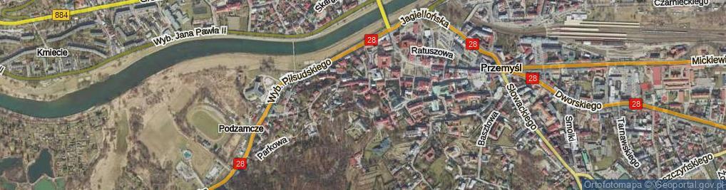Zdjęcie satelitarne Kmity Piotra ul.