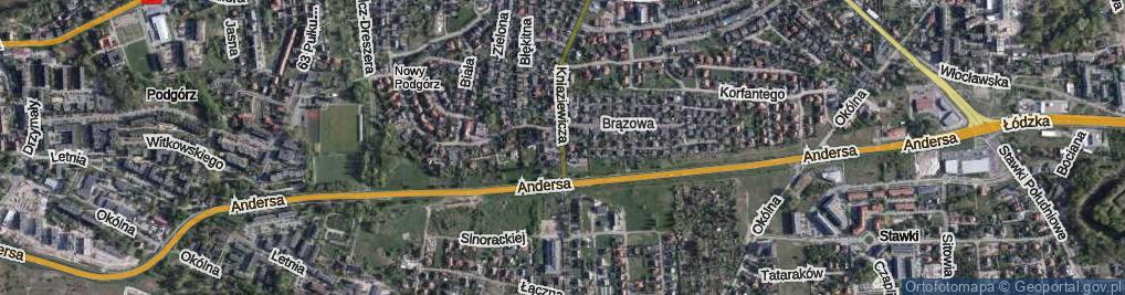Zdjęcie satelitarne Kniaziewicza Karola, gen. ul.